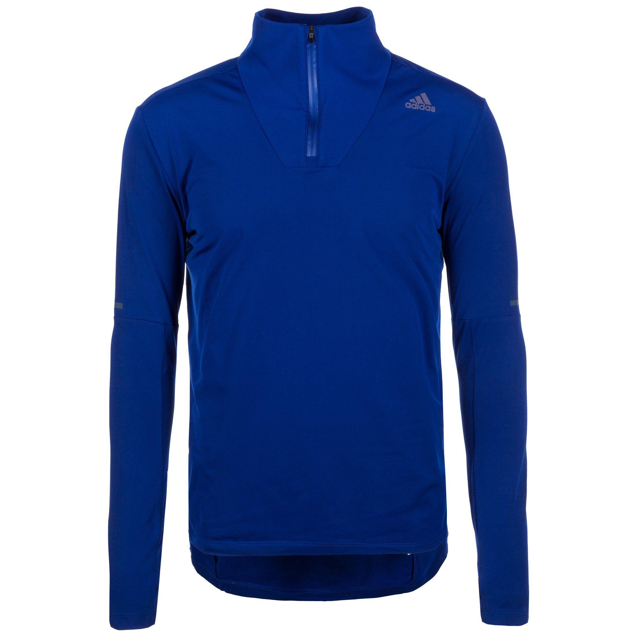 adidas Performance Laufshirt Supernova 1/2 Zip | Sportbekleidung > Sportshirts | Blau | Ab | Adidas Performance