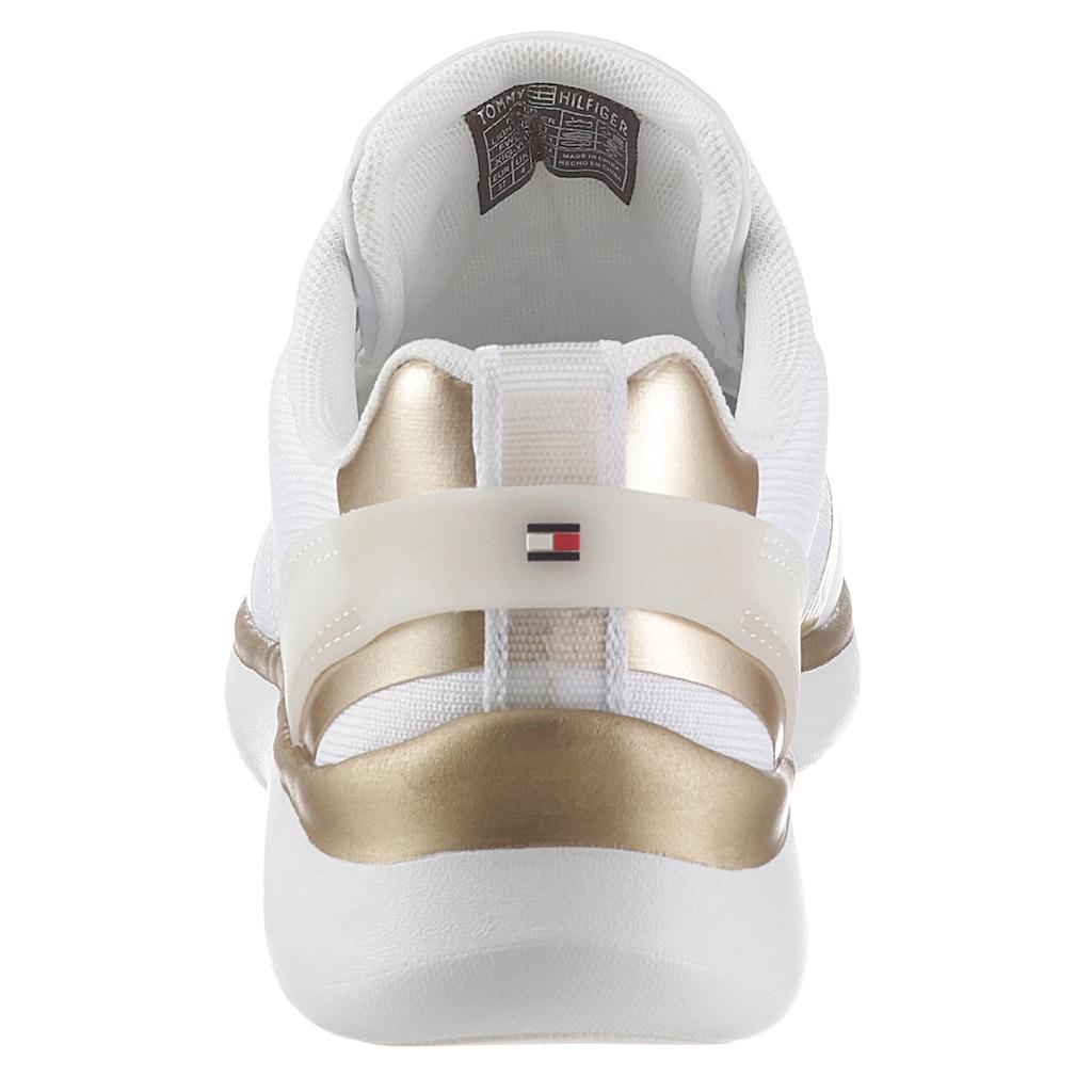 Tommy Hilfiger Keilsneaker »KNITTED LIGHT SNEAKER«, mit Metallicdetails