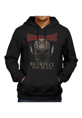 GASOLINE BANDIT® Hoodie mit coolem Totenkopf - Frontdruck kaufen