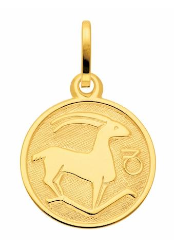 Adelia´s Kettenanhänger »333 Gold Sternzeichen Anhänger Steinbock Ø 11,8 mm« kaufen