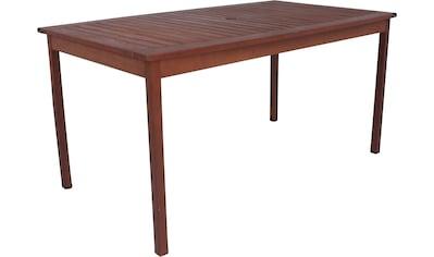 GARDEN PLEASURE Gartentisch »MADISON«, Eukalyptusholz, 150x90 cm, braun kaufen