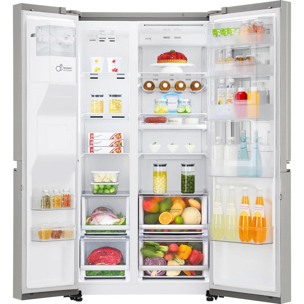 LG Side-by-Side »GSX960NEVZ«, 9, GSX960NEVZ, 179 cm hoch, 91,2 cm breit, Door-in-Door