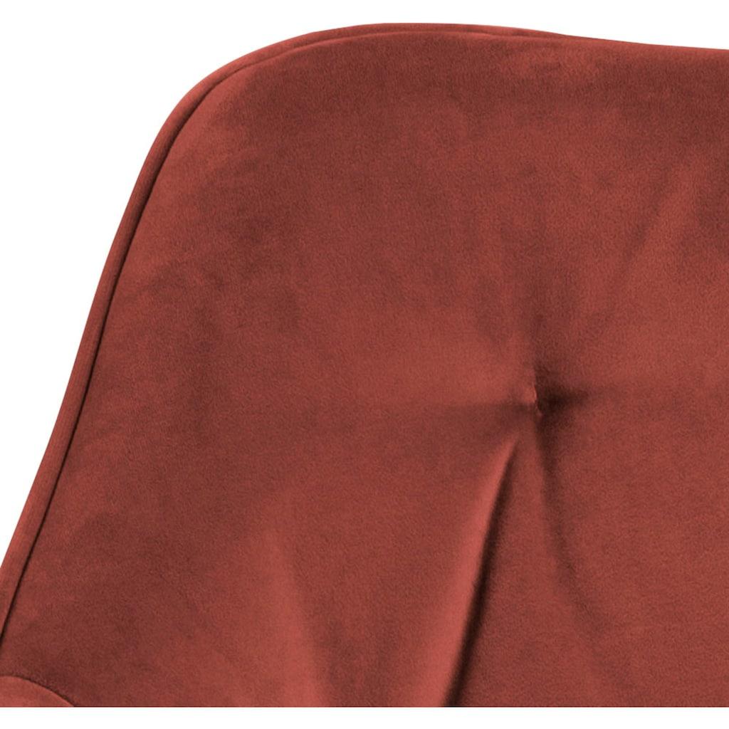 andas Esszimmerstuhl »Birgit«, 2er Set, mit einem pflegeleichten, weichen Samtvelours Bezug und Metallbeinen, Sitzhöhe 47 cm