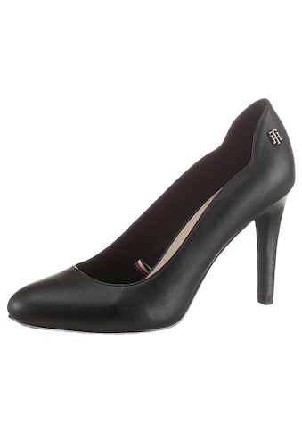 TOMMY HILFIGER Pumps »TOMMY ESSENTIAL LEATHER PUMP«, mit Label an der Ferse kaufen