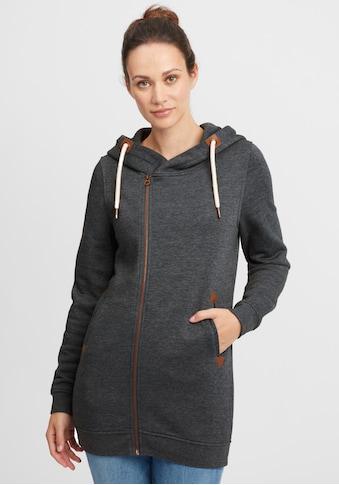 OXMO Kapuzensweatjacke »Vicky Zip Hood Long«, Sweatshirtjacke mit asymmetrischen... kaufen