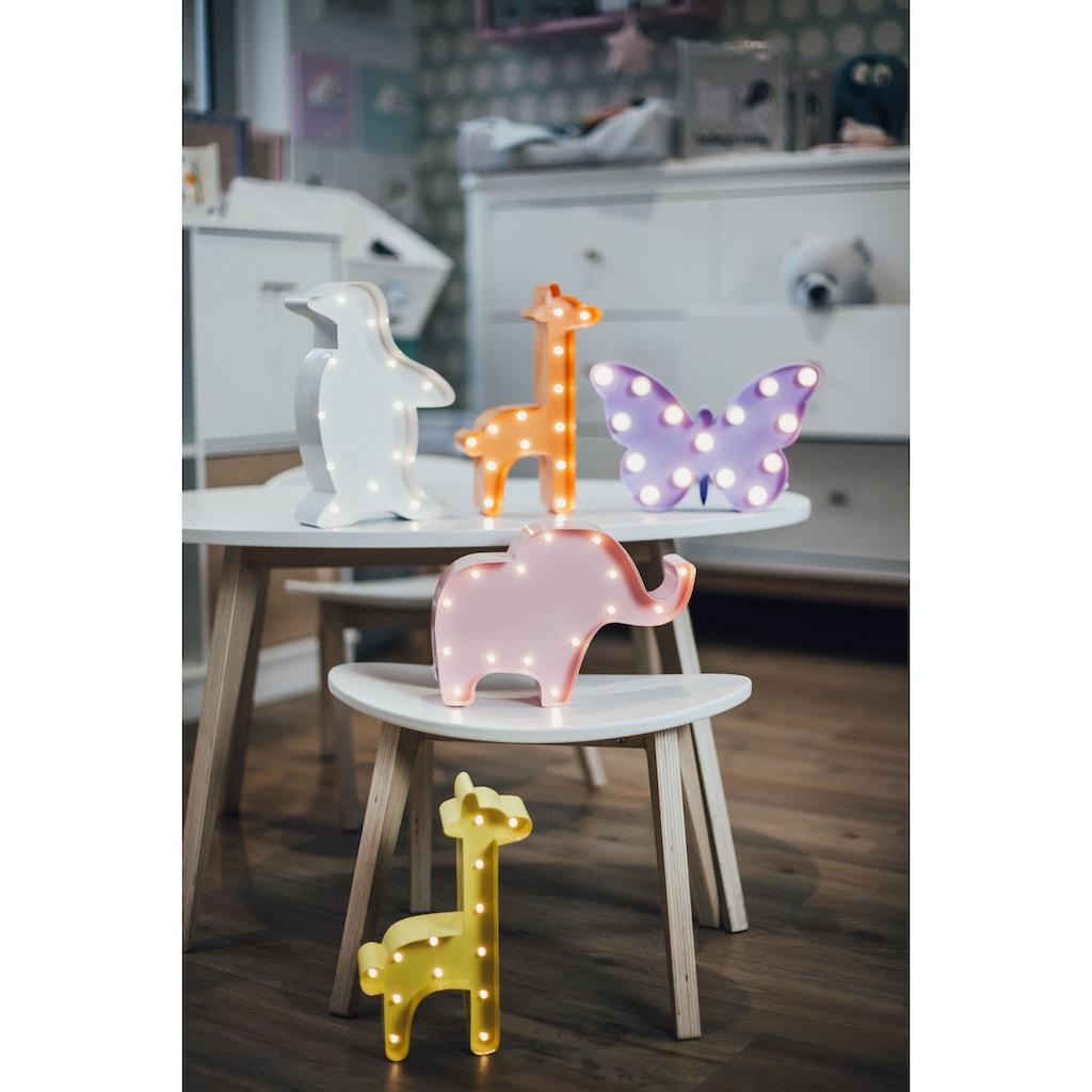MARQUEE LIGHTS LED Dekolicht »Pinguin«, 1 St., Warmweiß, Wandlampe, Tischlampe Penguin mit 12 festverbauten LEDs - 16cm Breit und 23cm hoch