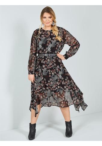 Sara Lindholm by Happy Size Kleid mit Blumendruck kaufen