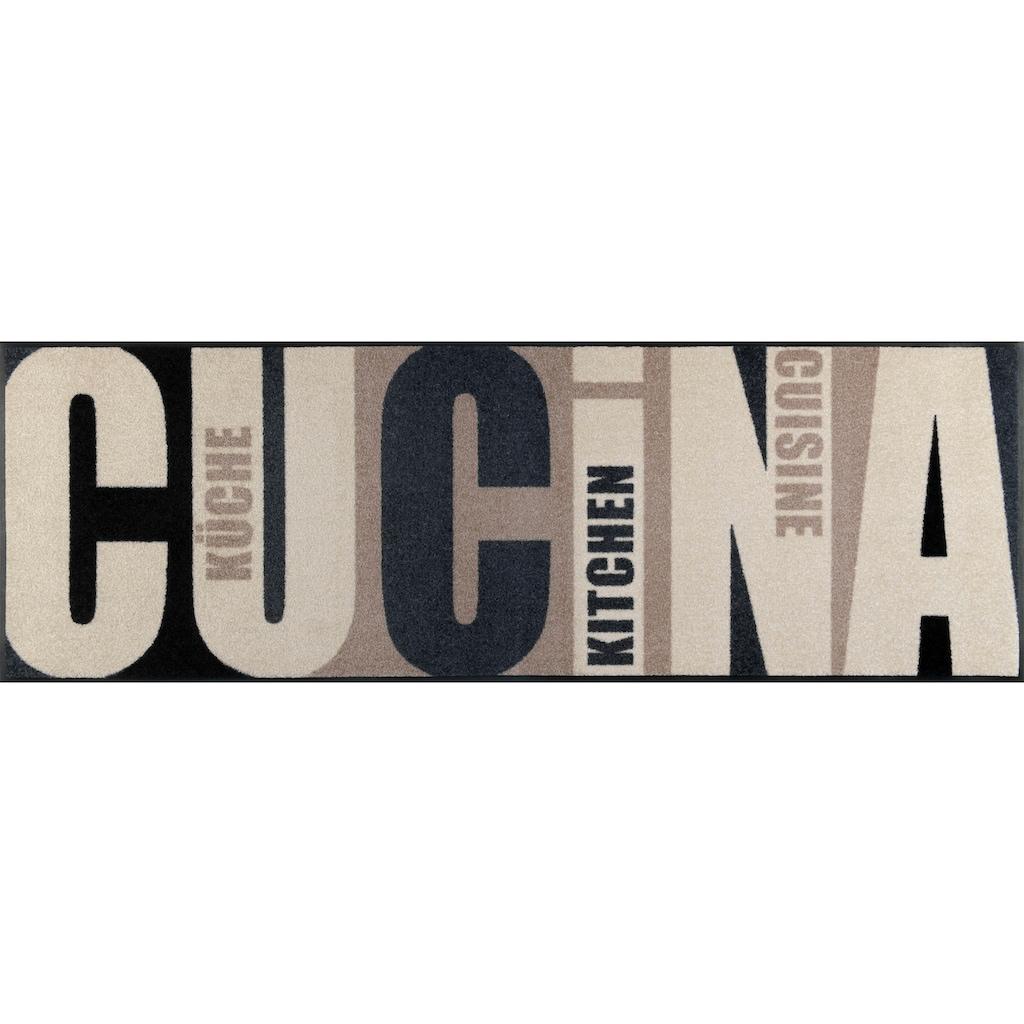 wash+dry by Kleen-Tex Läufer »Cucina pura«, rechteckig, 7 mm Höhe, In- und Outdoor geeignet, waschbar