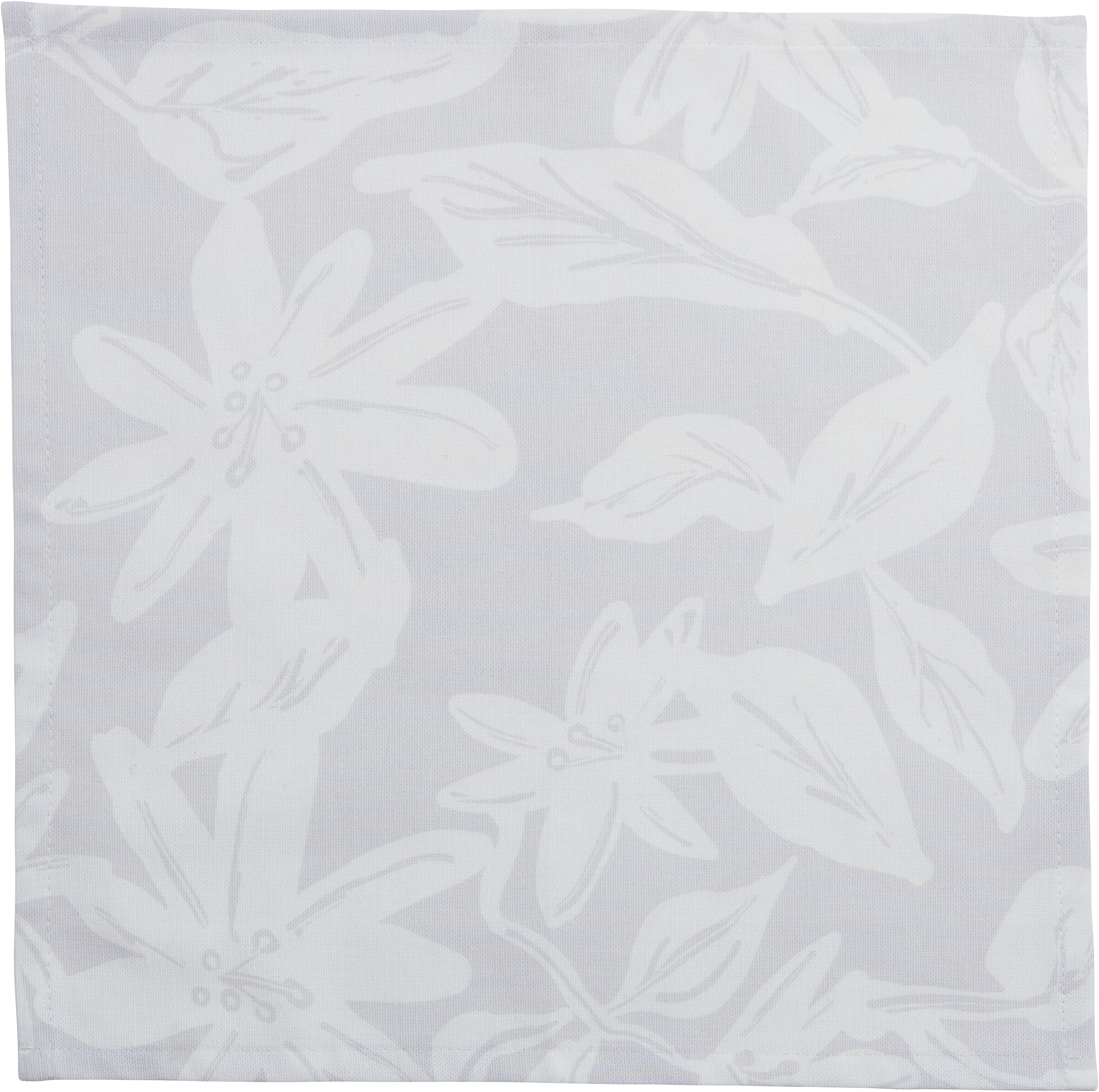 Guido Maria Kretschmer Home&Living Stoffserviette Flower, (Set, 12 St.), mit Blätter- und Blütenmotiv grau Stoffservietten Tischwäsche