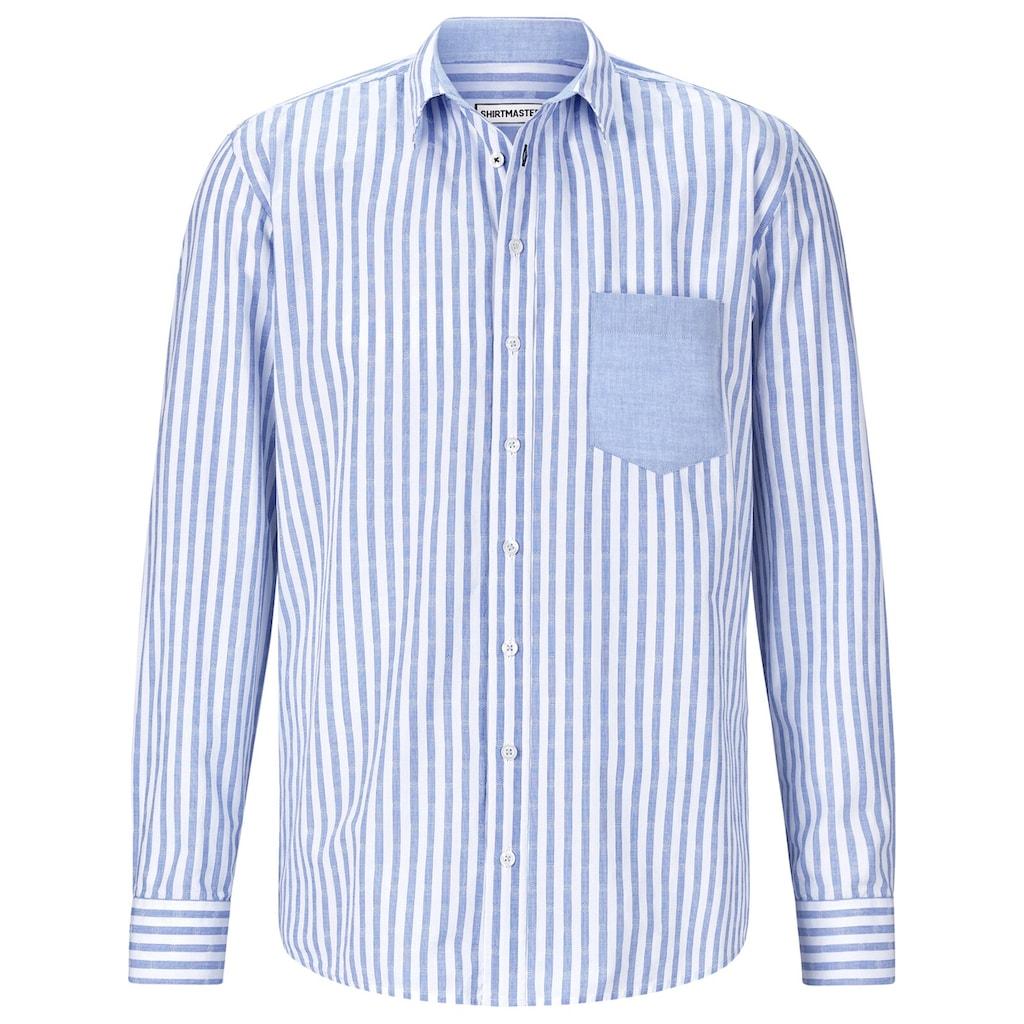 SHIRTMASTER Langarmhemd »hellosailor«, Baumwollhemd aus edlem Jacquard