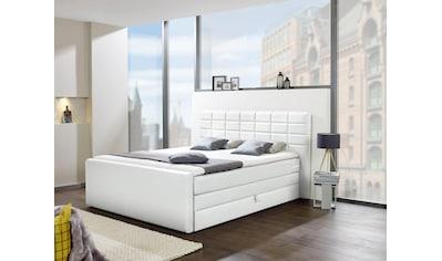 INOSIGN Boxspringbett »Lethbridge«, mit Bettkasten, wahlweise in Überlänge 220 cm kaufen