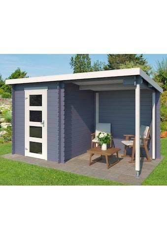 OUTDOOR LIFE PRODUCTS Gartenhaus »Jelle Plus«, BxT: 390x195 cm, inkl. Anbaudach mit Rückwand kaufen