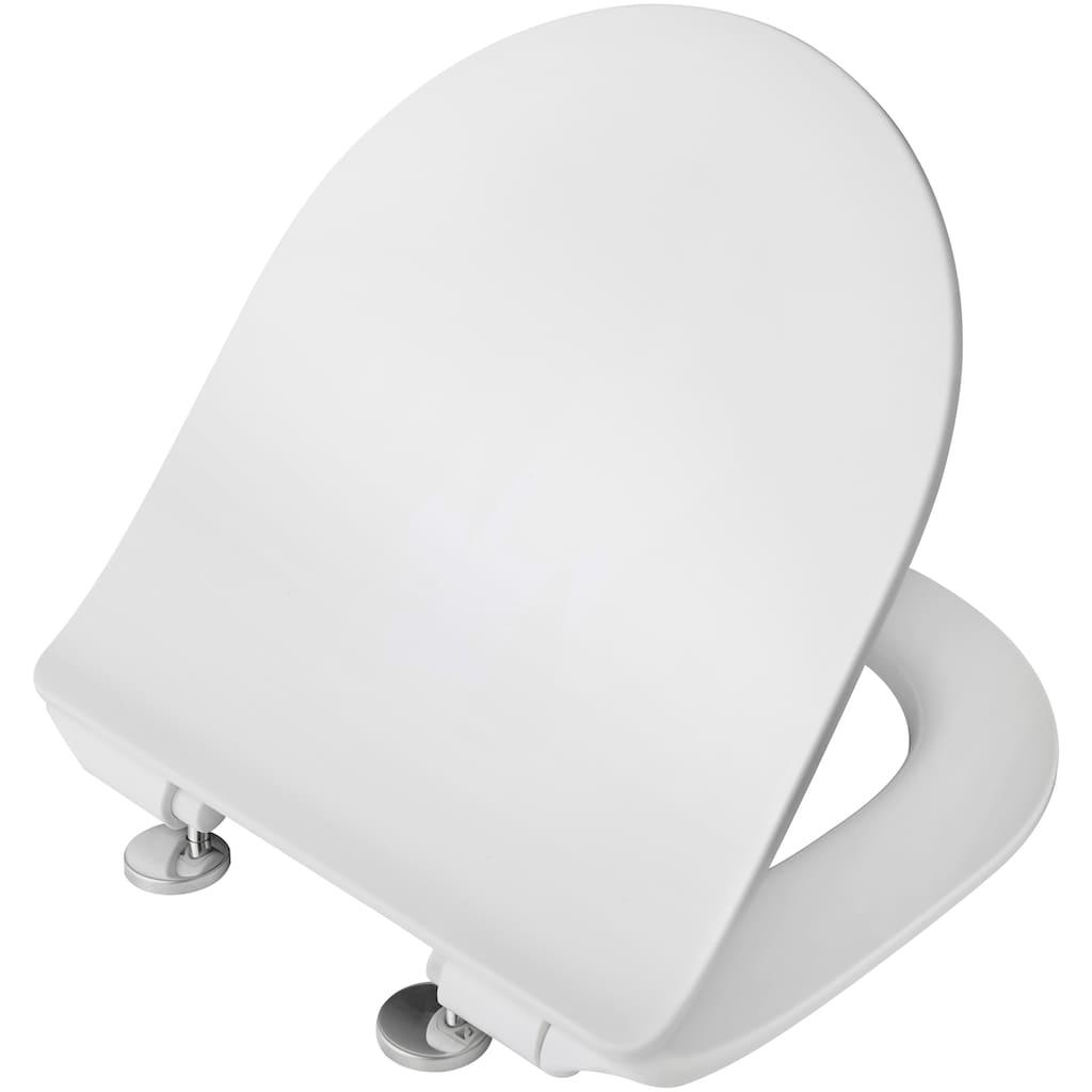 welltime Tiefspül-WC »Trento«, Toilette spülrandlos, inkl. WC-Sitz mit Absenkautomatik / Softclose, weiß