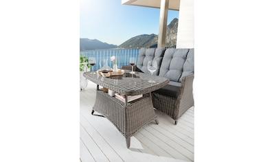 DESTINY Gartentisch »Casa«, Polyrattan, 80x120 cm, grau kaufen