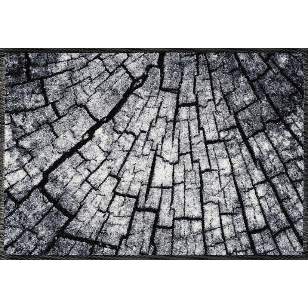 wash+dry by Kleen-Tex Fußmatte »Timber«, rechteckig, 7 mm Höhe, Schmutzfangmatte