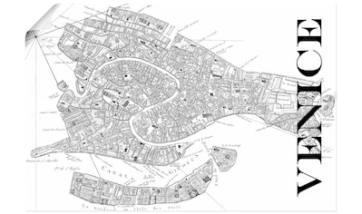 Artland Wandbild »Venedig Karte Straßen Karte« kaufen