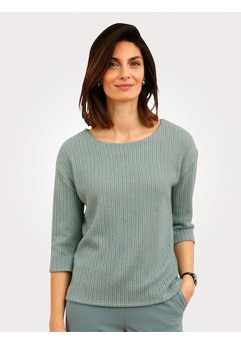 Mona 3/4-Arm-Shirt, in Strickoptik kaufen