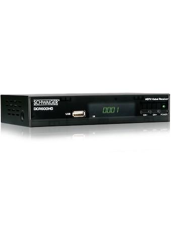 Schwaiger DVB - C Full HD Kabel - Receiver »Media Player, USB, EPG, HD - TV« kaufen