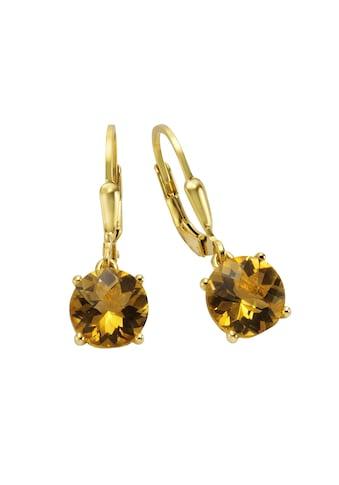 Jamelli Paar Ohrhänger »925/- Sterling Silber vergoldet Citrin«, Ohrhänger kaufen