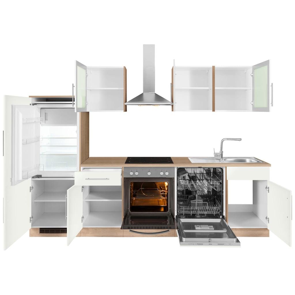 wiho Küchen Küchenzeile »Aachen«, ohne E-Geräte, Breite 280 cm