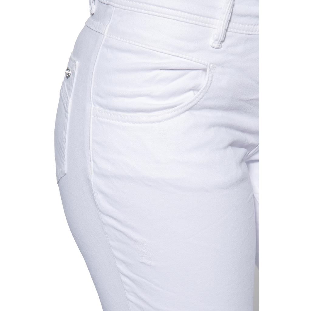 Way of Glory Slim-fit-Jeans, mit leichten Destroyed Effekten