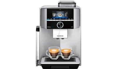SIEMENS Kaffeevollautomat »EQ.9 plus connect s500 TI9558X1DE«, extra leise, automatische Reinigung, bis zu 10 individuelle Profile kaufen