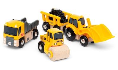 BRIO® Spielzeug-Eisenbahn »Baustellenfahrzeuge«, mit Kipper, Walze und Bagger mit... kaufen