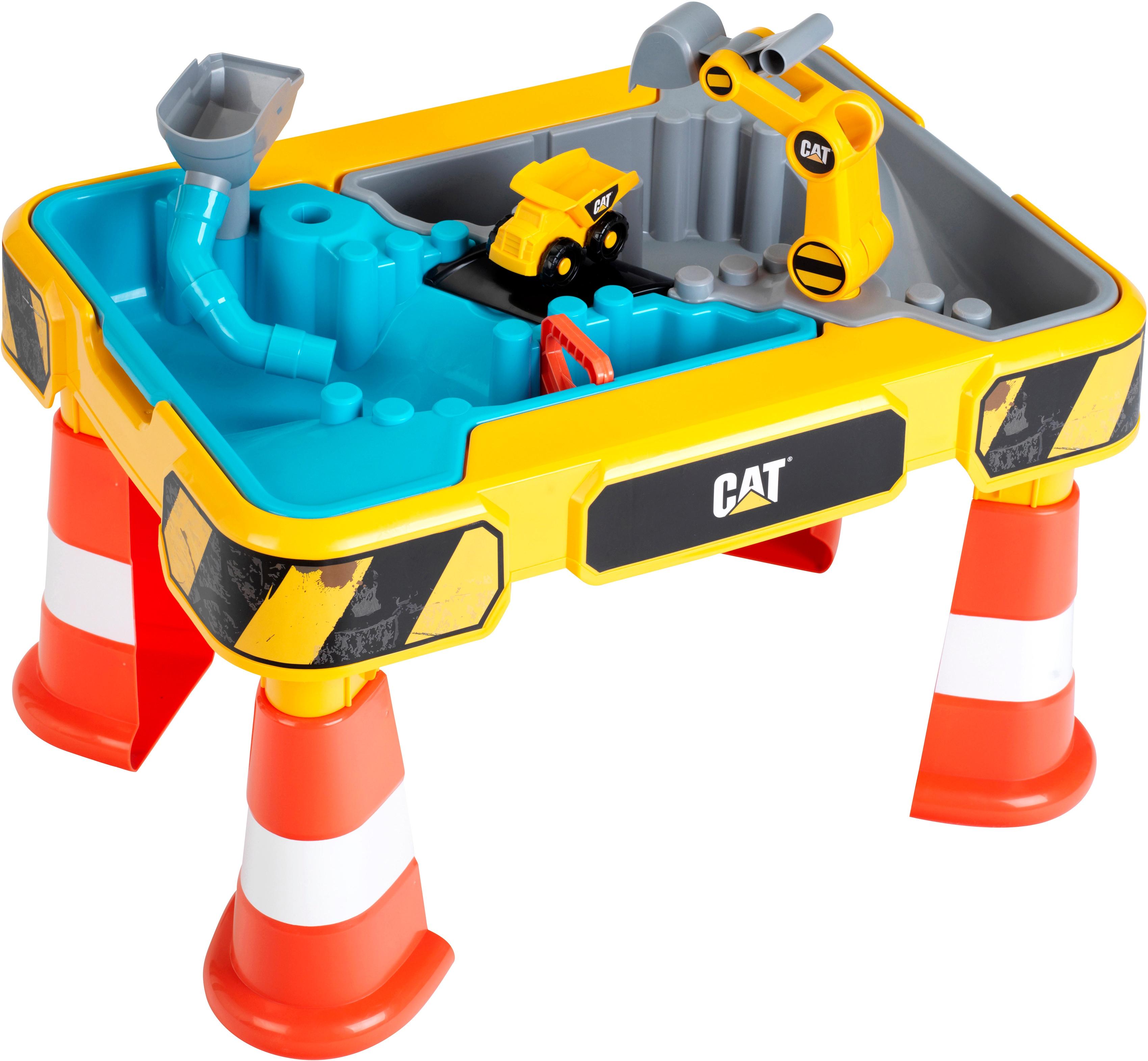 Klein Spieltisch CAT, Sand- und Wasser bunt Kinder Sandkiste Sandspielzeug Outdoor-Spielzeug Spieltische