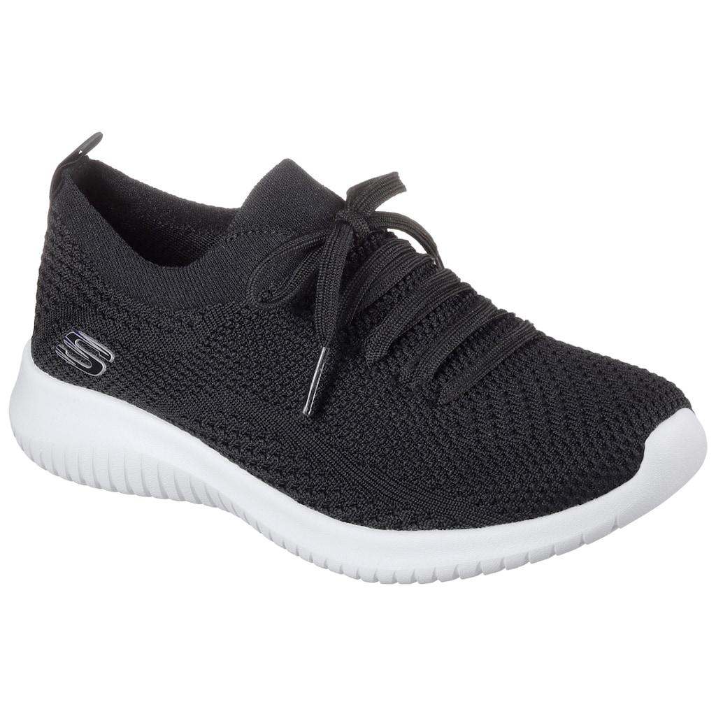 Skechers Slip-On Sneaker, mit aufgesetzter Schnürung
