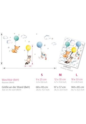 little DECO Wandtattoo »Little Deco Wandtattoo Fuchs Maus und Waschbär mit Luftballon« kaufen