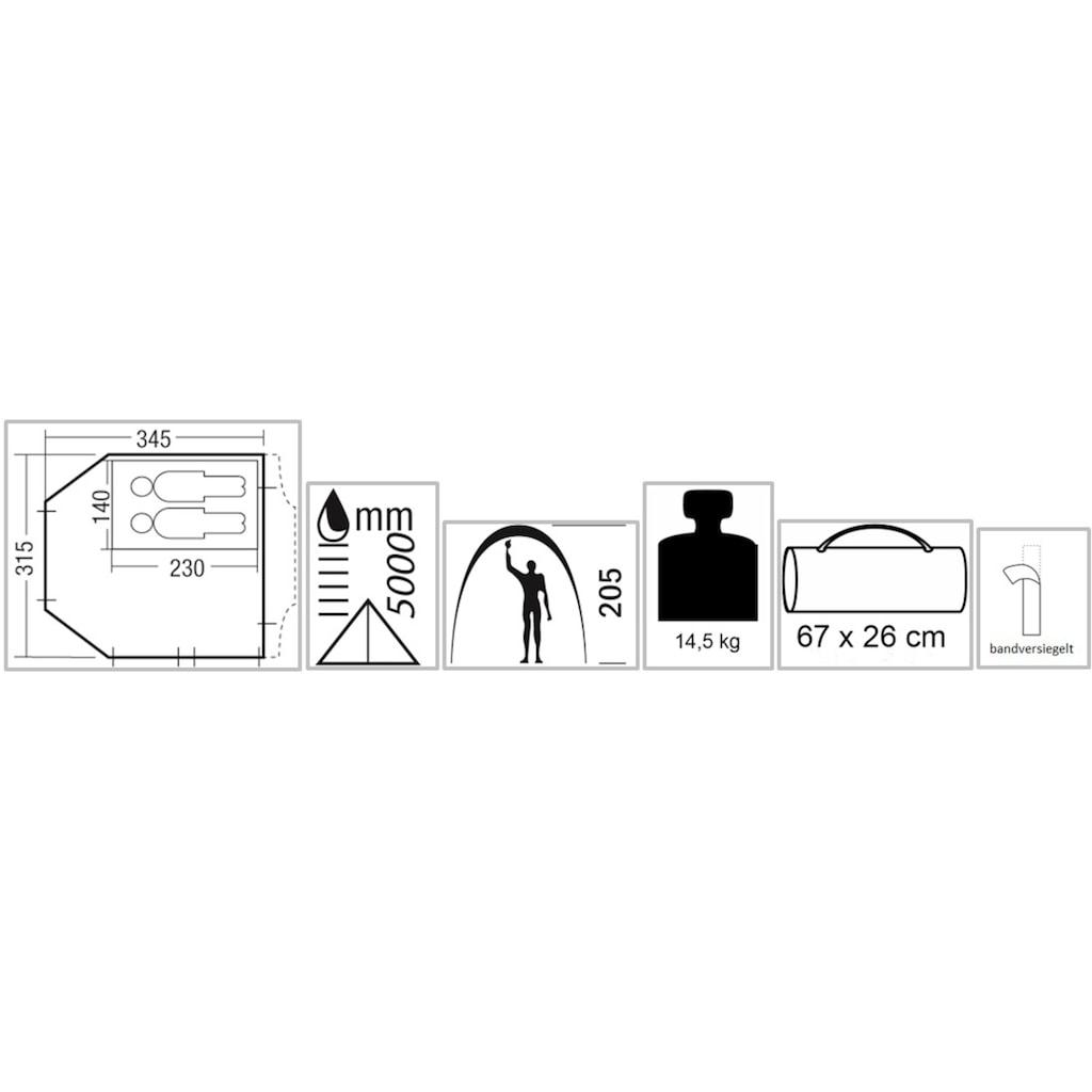 EXPLORER Buszelt »Riva Deluxe 2«, 2 Personen, herausnehmbare Schlafkabine, Ring+Pin-System
