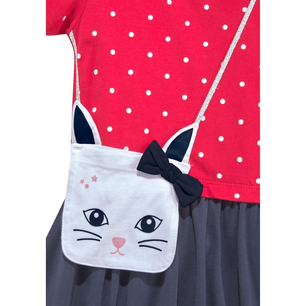 KIDSWORLD Jerseykleid, mit kleiner applizierter Tasche