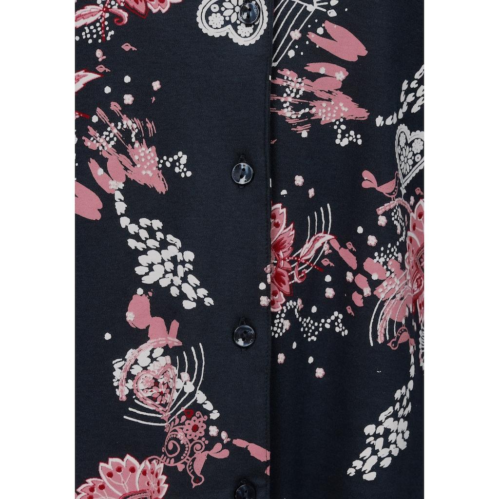 Schiesser Pyjama, mit geblümtem Hemd
