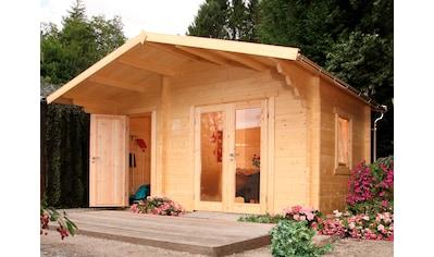 WOLFF FINNHAUS Gartenhaus »Caro 34 Modern«, BxT: 486x460 cm, inkl. Fußboden, mit 2 Räumen kaufen
