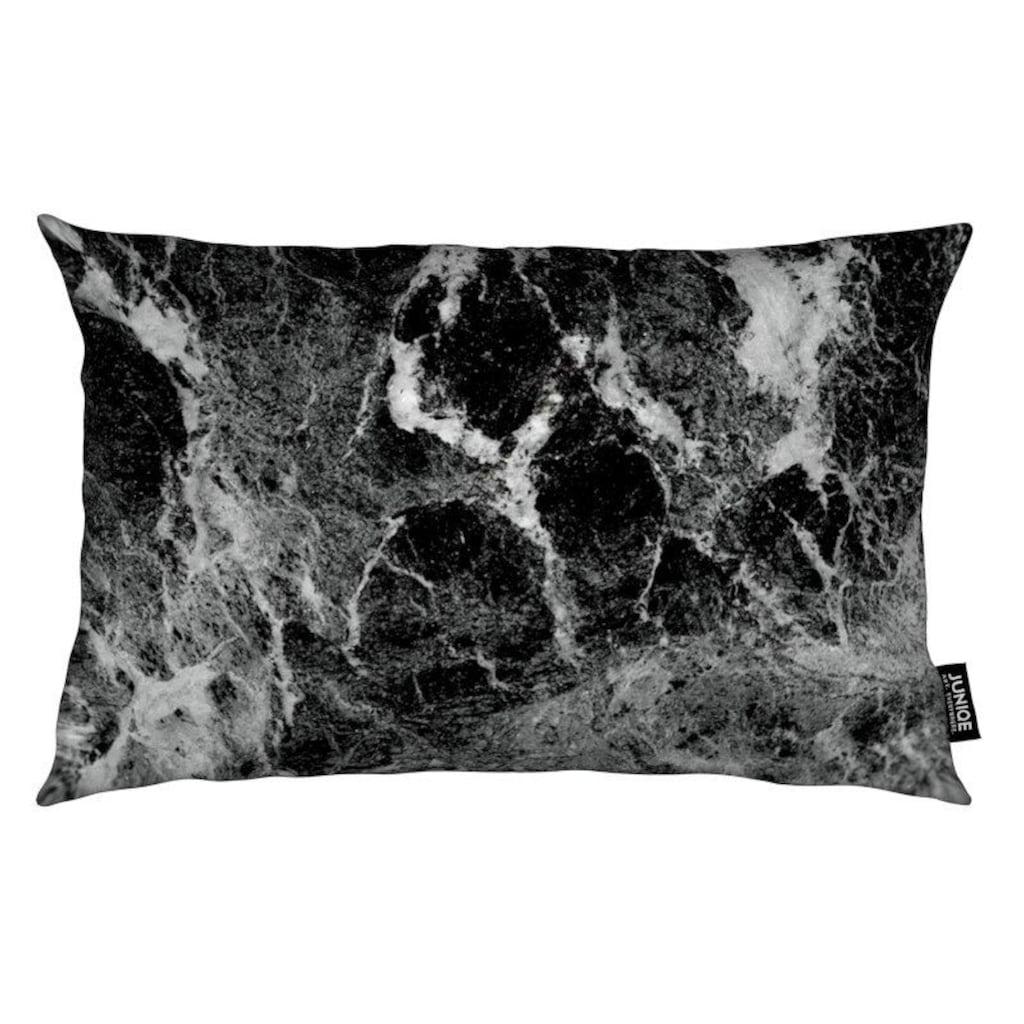 Juniqe Dekokissen »Marble«, Weiches, allergikerfreundliches Material