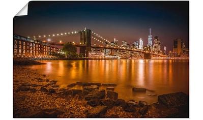Artland Wandbild »Manhattan Skyline & Brroklyn Bridge« kaufen