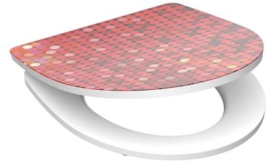 SCHÜTTE WC - Sitz »Red Glitter«, mit Absenkautomatik kaufen