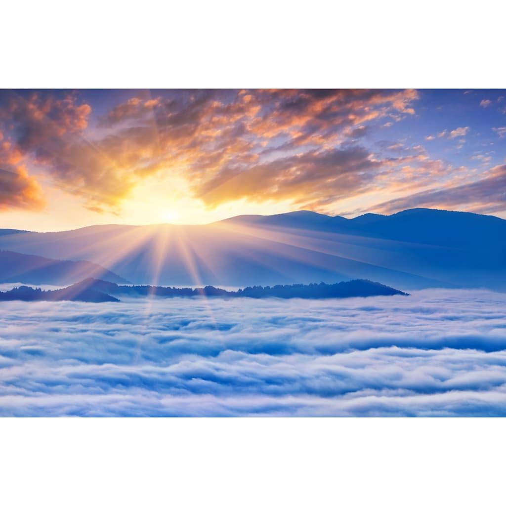 Papermoon Fototapete »Sonnenaufgang über Wolken«, Vliestapete, hochwertiger Digitaldruck