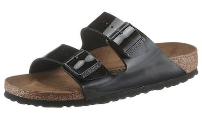 Birkenstock Pantolette »ARIZONA Patent«, in glänzender Lack-Optik, Schuhweite: schmal kaufen
