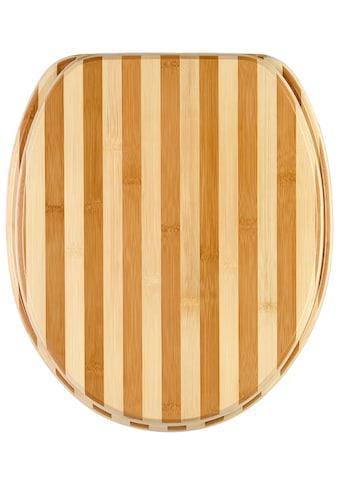 Sanilo WC-Sitz »Bambus Gestreift«, mit Absenkautomatik kaufen
