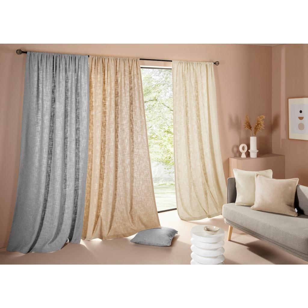 LeGer Home by Lena Gercke Vorhang »LIVIA«, mit schwerer Bouclé-Optik