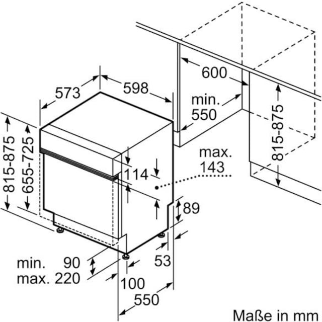 SIEMENS teilintegrierbarer Geschirrspüler iQ300, 9,5 Liter, 12 Maßgedecke