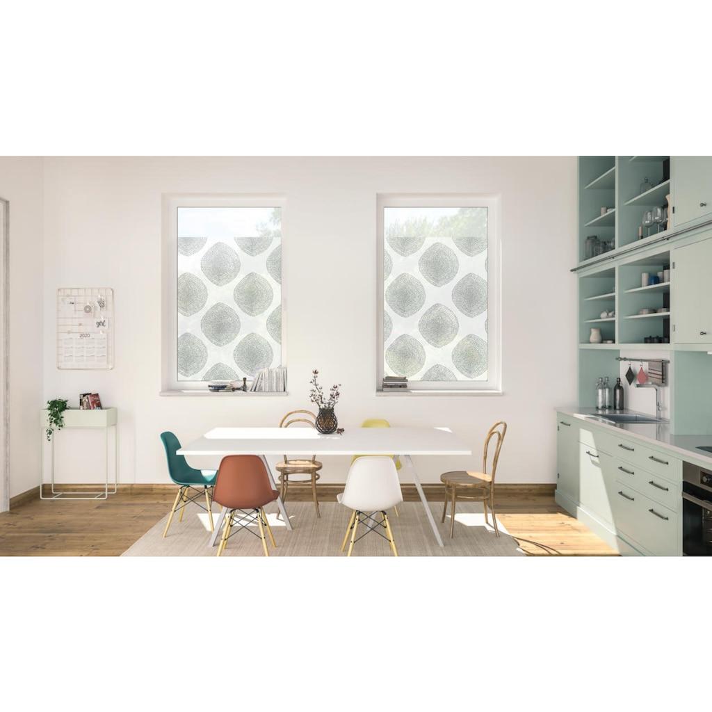 LICHTBLICK ORIGINAL Fensterfolie »Fensterfolie selbstklebend, Sichtschutz, Stripy Boho Drop - Weiß«, 1 St., blickdicht, glattstatisch haftend