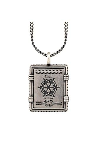 CAÏ Kette mit Anhänger »925/- Silber matt oxidiert Sailor Wappen« kaufen