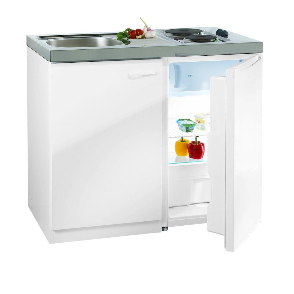 RESPEKTA Miniküche, mit DUO Kochmulde und Kühlschrank