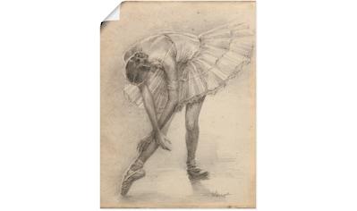 Artland Wandbild »Antike Ballerina Übung II« kaufen