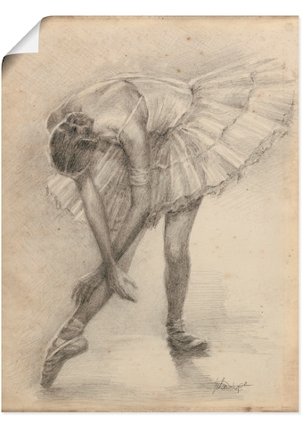 Artland Wandbild »Antike Ballerina Übung II«, Sport, (1 St.), in vielen Größen & Produktarten - Alubild / Outdoorbild für den Außenbereich, Leinwandbild, Poster, Wandaufkleber / Wandtattoo auch für Badezimmer geeignet kaufen