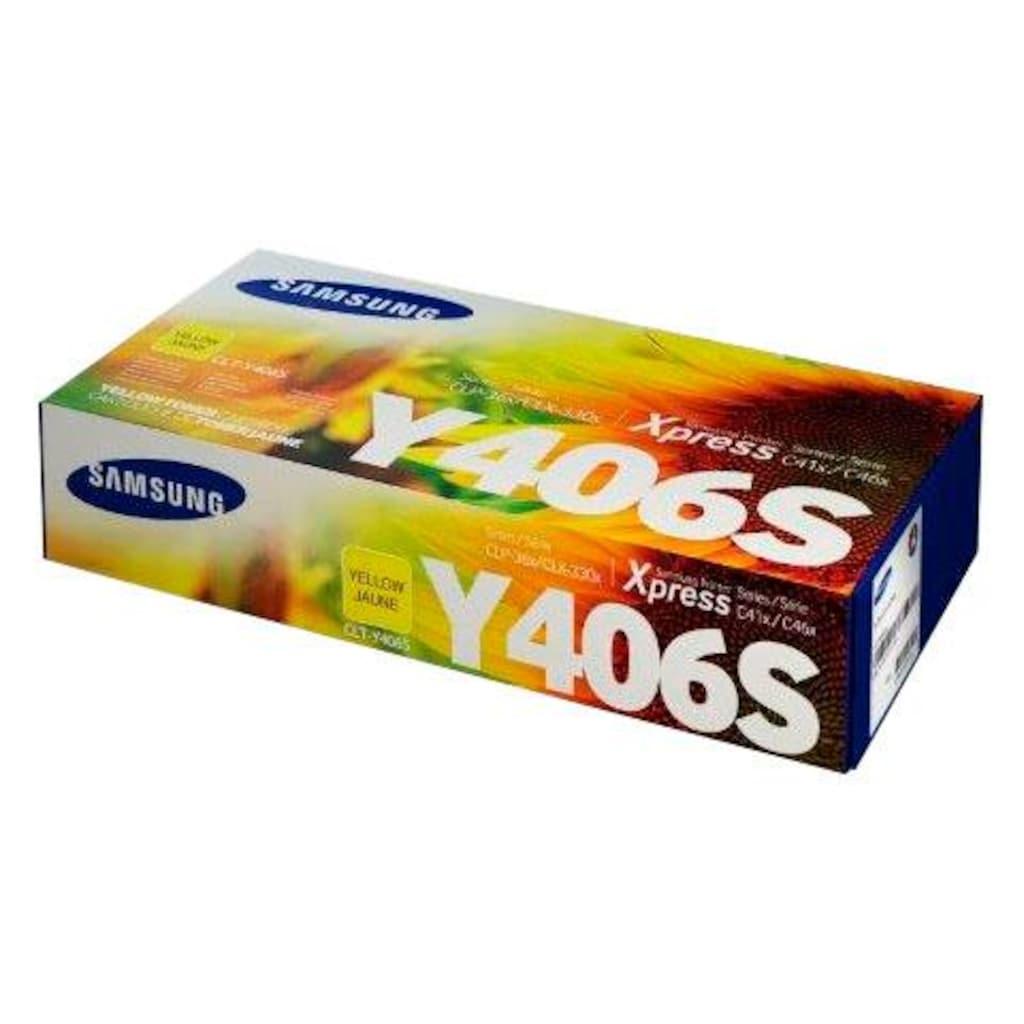 Samsung Tonerpatrone »CLT-Y406S, original, SU462A, gelb«