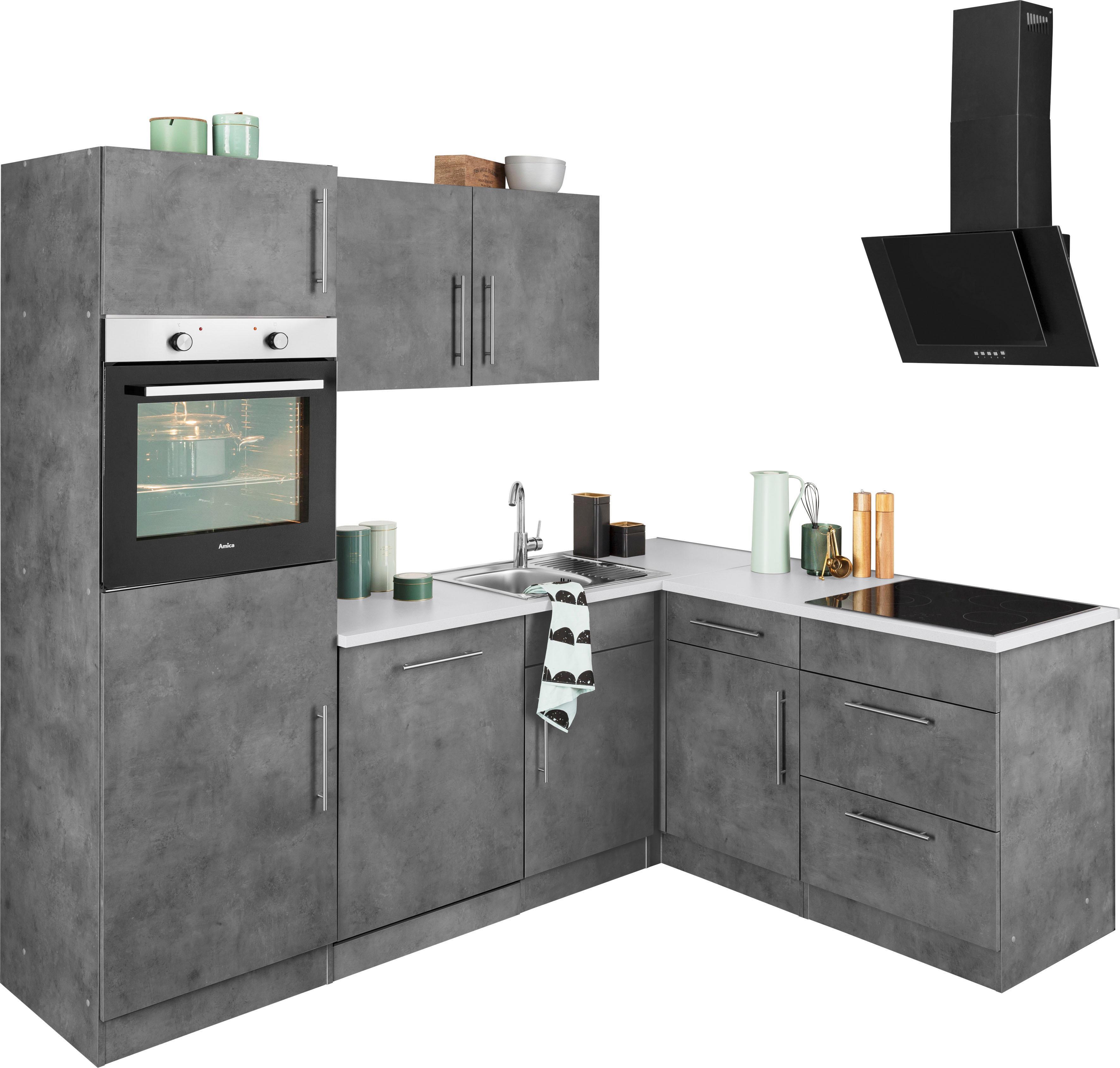 wiho Küchen Winkelküche Cali ohne E-Geräte Stellbreite 230 x 170 cm