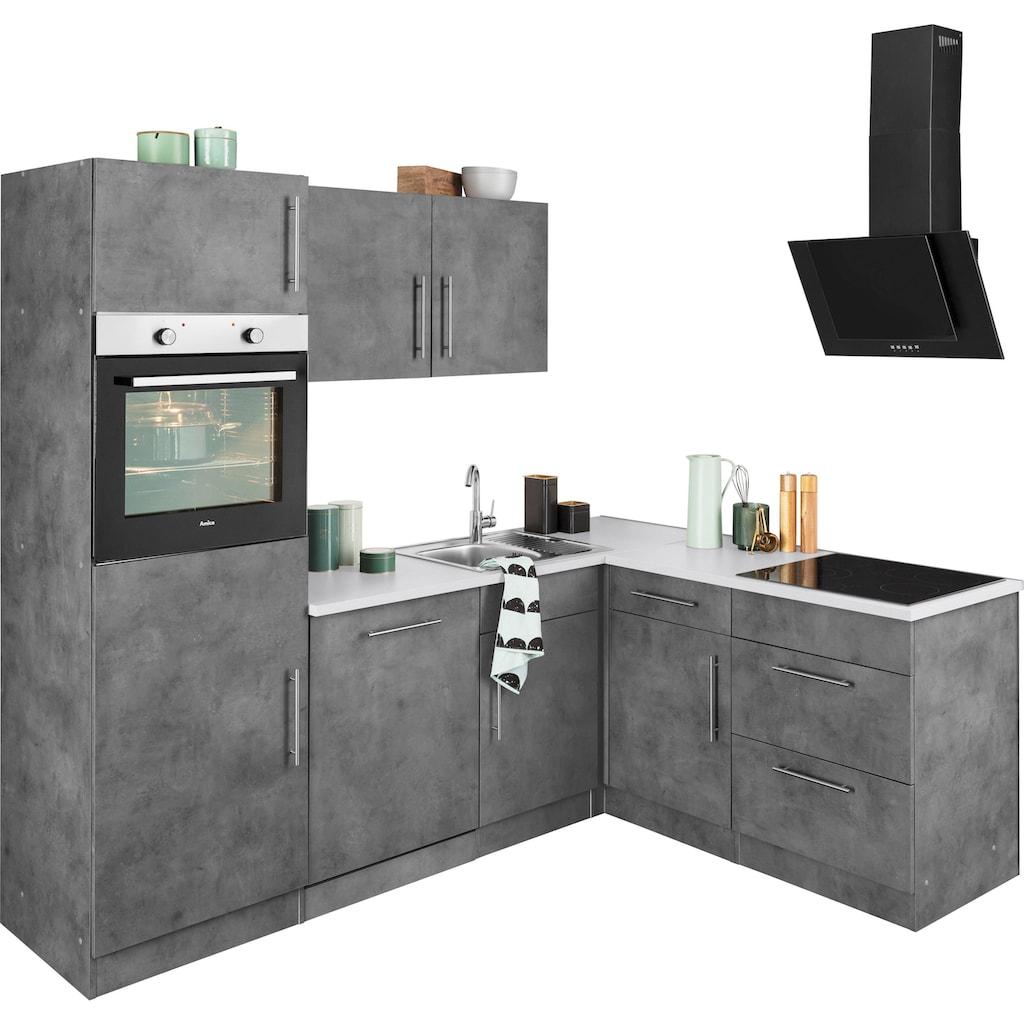 wiho Küchen Winkelküche »Cali«, ohne E-Geräte, Stellbreite 230 x 170 cm